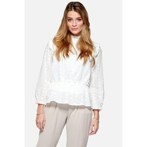 Rome Blouse - White Broderie Flower