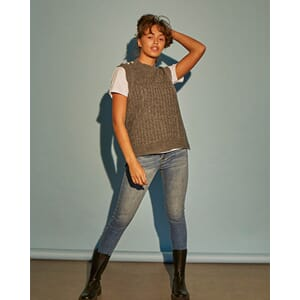 MANDA-NEW VEST GREY MELANGE