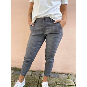 Rex Ankle Pants Check Grey