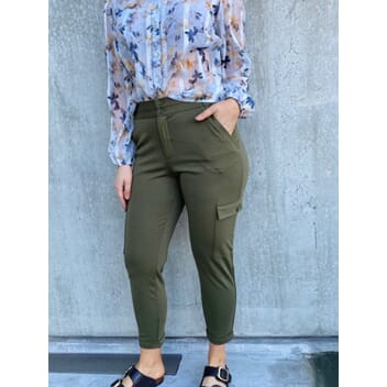 Nanni ankle pant cargo olive