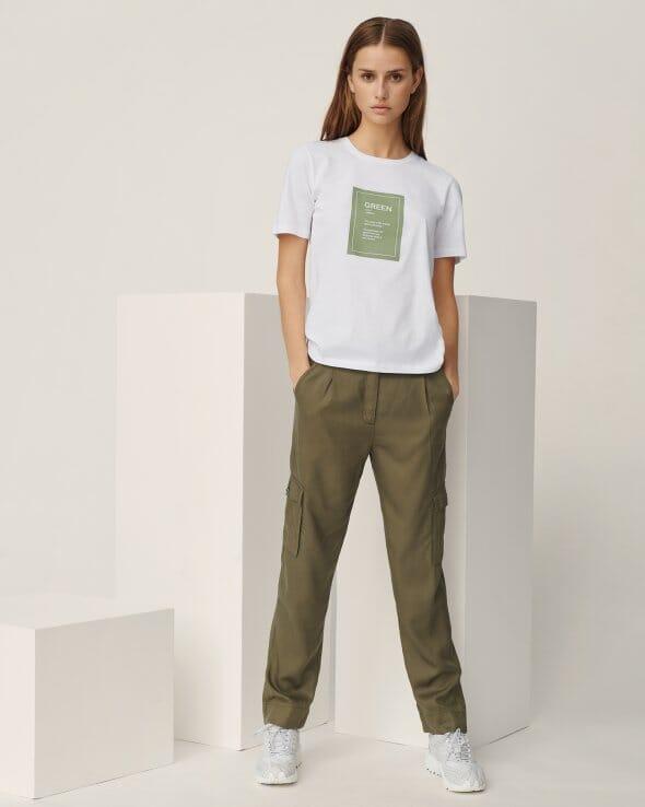 Moss Copenhagen MAIRA ROSANNA PANTS Bukse kalamata
