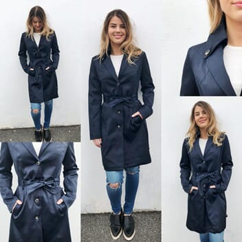 Saffie Trench Navy
