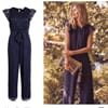 Jumpsuit blonde navy