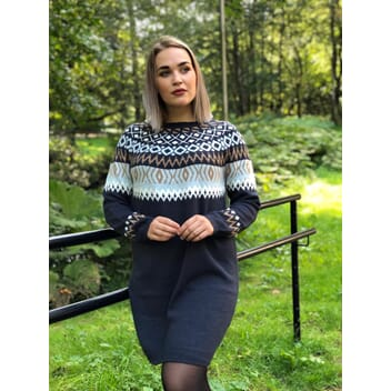 Vihella knit dress navy