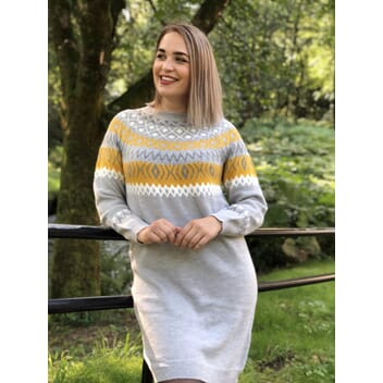 Vihella Knit Dress Yellow