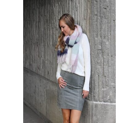 Vifaith suede skirt Castor  Gray