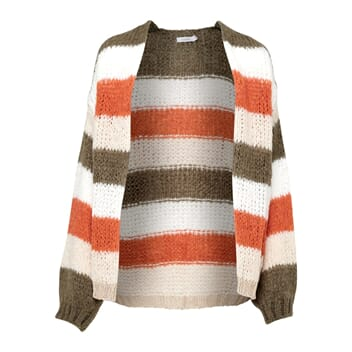 Kala Cardigan Orange/Army Stripes