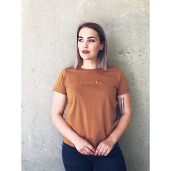 Hem T-shirt Lion-Copper